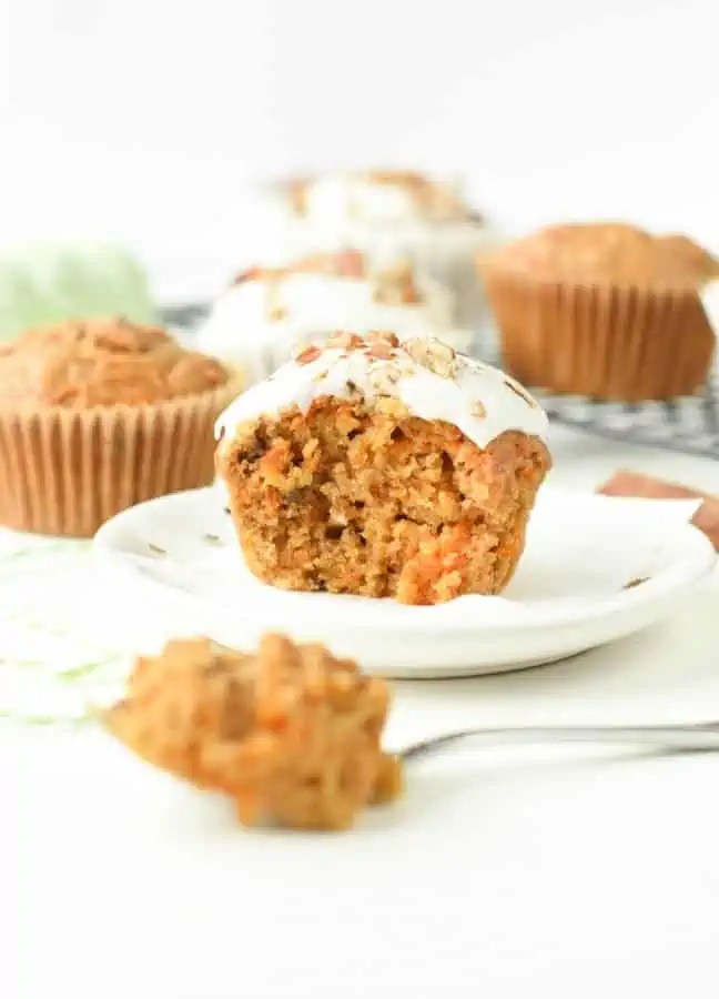 easy vegan carrot cake cupcakes with coconut cream frosting