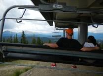 Lauren and Kenin on Ski Lift