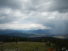 Storm brewing over Keystone Colorado