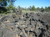 broken up rocks in Craters of the Moon