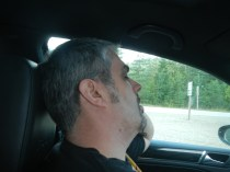 Kenin Napping in Car