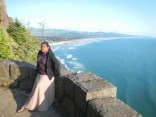 Lauren on the Cliff Side