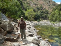 Kings Canyon National Park - Lauren in River 2