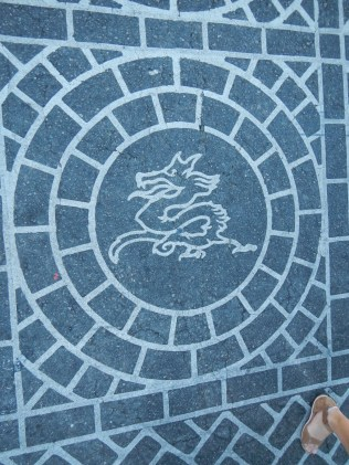 Crosswalk Art in Chinatown LA