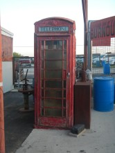 Old Time phone booth at Texas Pride BBQ San Antonio TX