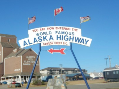 Alaska Highway Mile Zero in Dawson Creek
