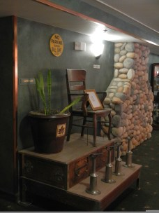Shoe Shine Chair at Pikes Waterfront Lodge Fairbanks Alaska