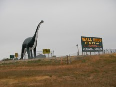 Side of the road Dinosaur in Wall SD