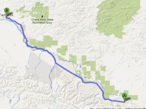 Our Route from Tok Alaska to Fairbanks Alaska