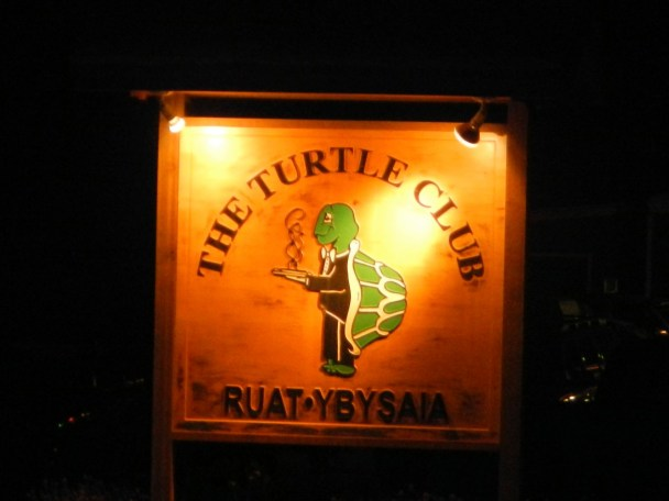 Sign for the Turtle Club in Fox Alaska