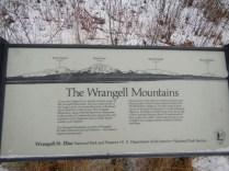 Info Sign on Wrangell Mountains