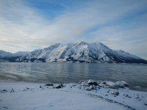 Beautiful lake Kluane YK Canada