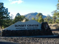 Welcome to Sunset Crater National Monument Near Flagstaff Arizona