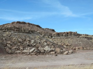 Rock Formations in Petrified National Forest Arizona