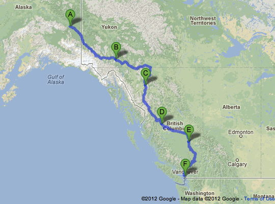 Road Trip Route Alaska to Vancouver | Ciar Highway | Travel Map Of Canada Connected To Alaska on alaska part of canada, alaska surrounded by canada, alaska connected to asia,