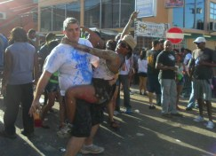 Wining at J'Ouvert - Carnival in Trinidad
