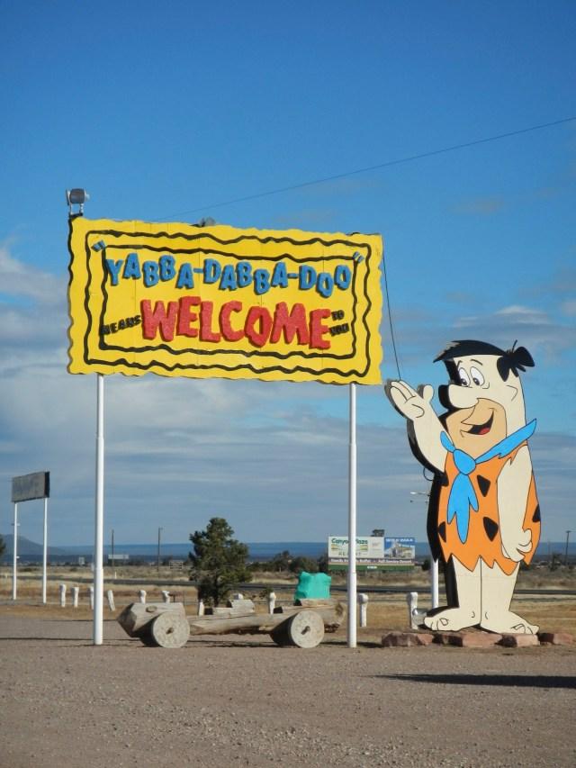 Welcome to Flintstones Bedrock City AZ Sign