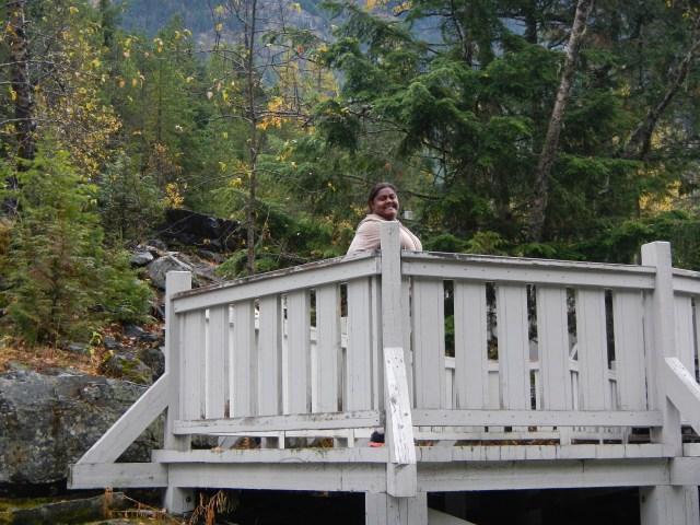 Lauren on the deck