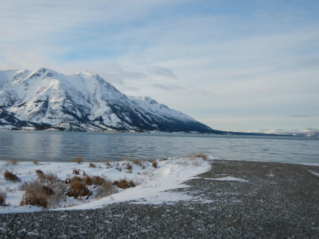 Kluane Lake without the fog