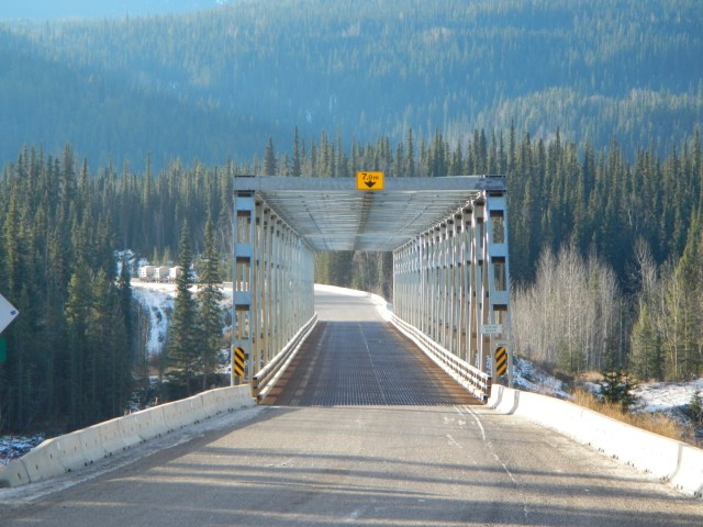 Cassiar Highway one way bridge
