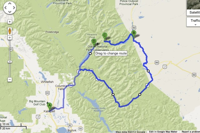 Our Crazy Route around the National Park