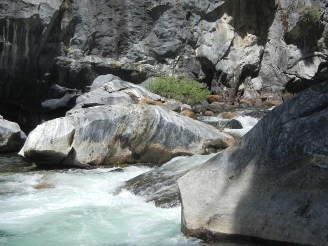 River water crashing on the rocks