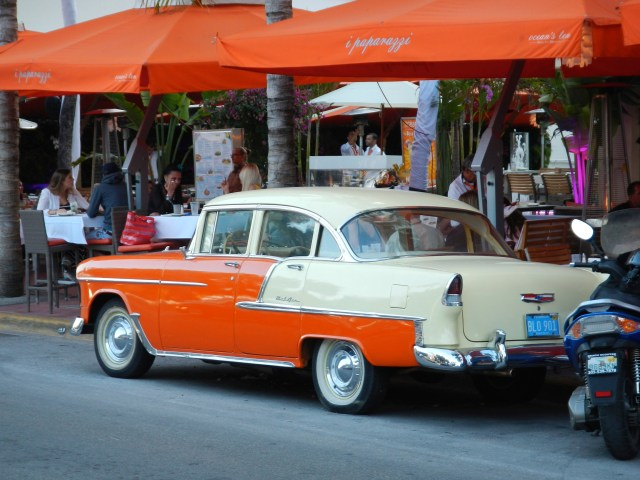 Orange and Cream Bel Air on South Beach