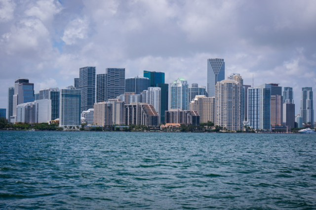 View of the Miami Skyline on the Tropical Sailing Miami adventure