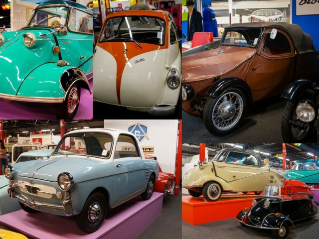 Collage of Micro Cars from the Miami Automobile Museum