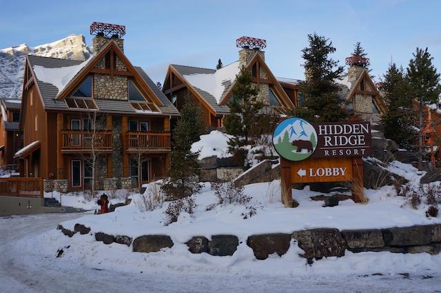 HIdden Ridge Resort Banff Review Entrance