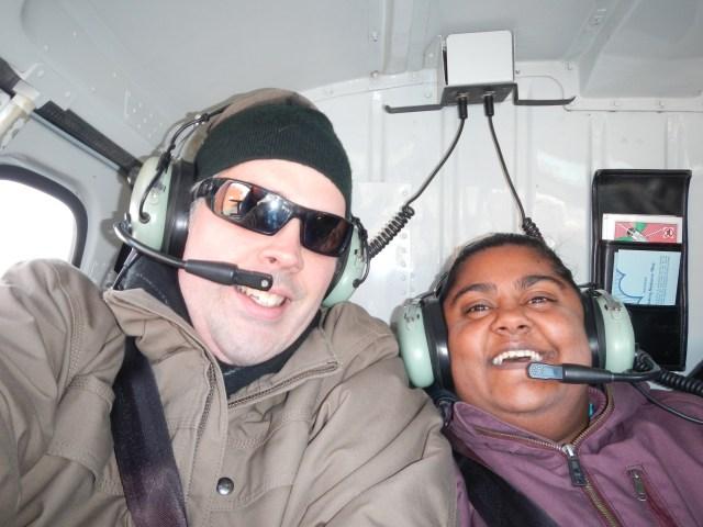 Two dorks in a chopper
