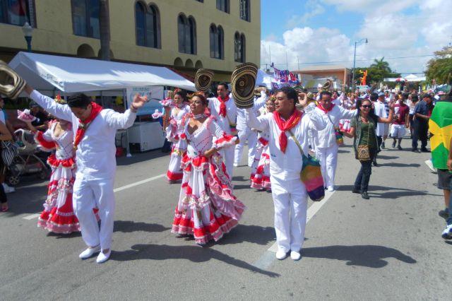 Flamenco dancers in motion