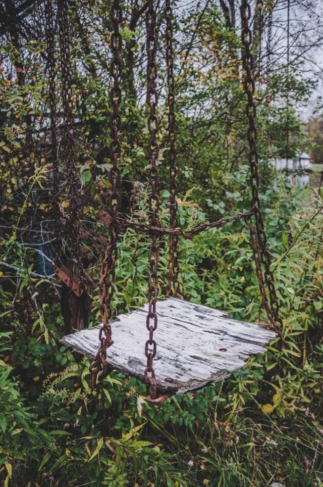 Abandoned Swing Lake Shawnee Amusement Park