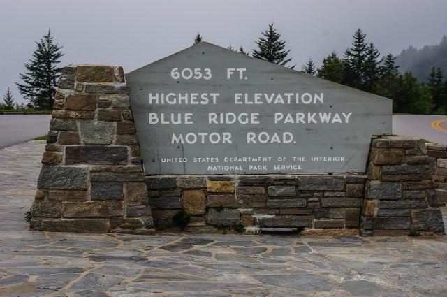 Blue Ridge Parkway Highest Elevation