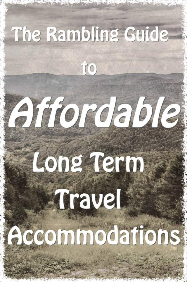 Affordable Long Term Travel Accommodations