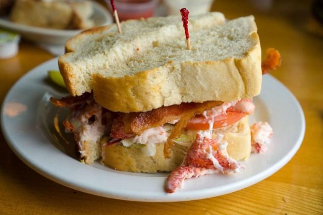 Lobster BLT at Aunt Carries - Narragansett, Rhode Island