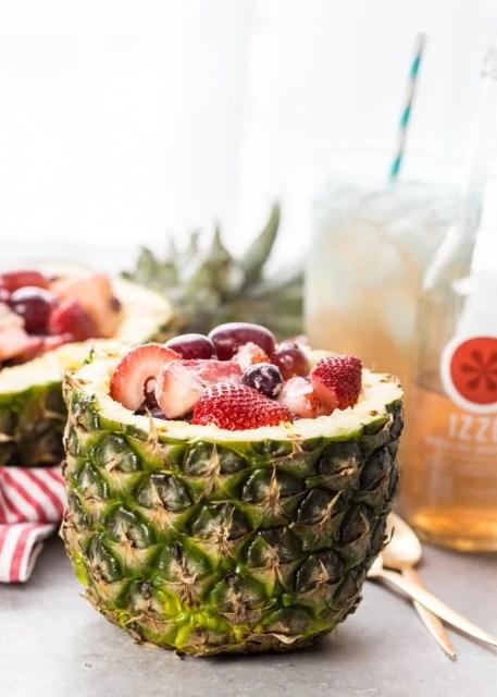 Fruit Salad in Pineapple Bowls {Cookie Rookie}