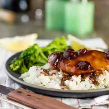 Slow Cooker Cranberry Chicken, the perfect use of some of your Thanksgiving leftovers! SO EASY!