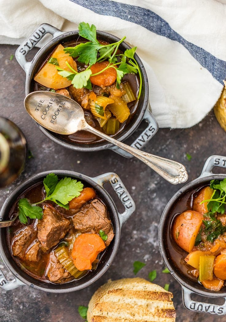 Slow Cooker Guinness Beef Stew {The Cookie Rookie}