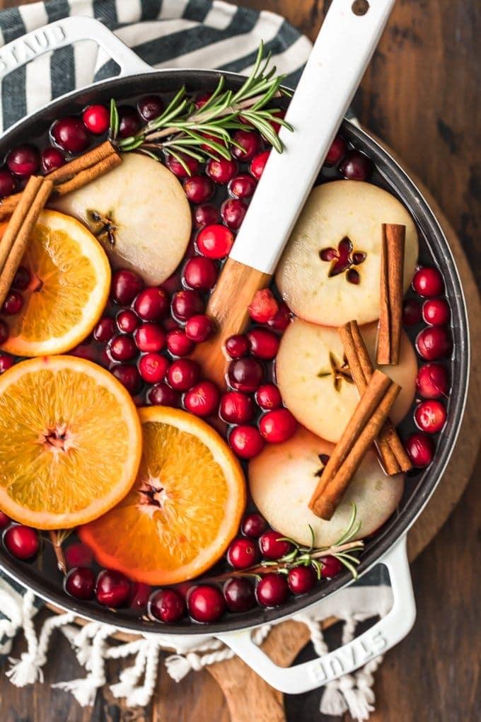 Hot Cranberry Apple Spiced Cider Recipe