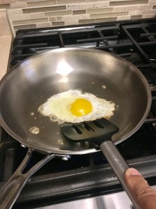 Eggs in stainless steel