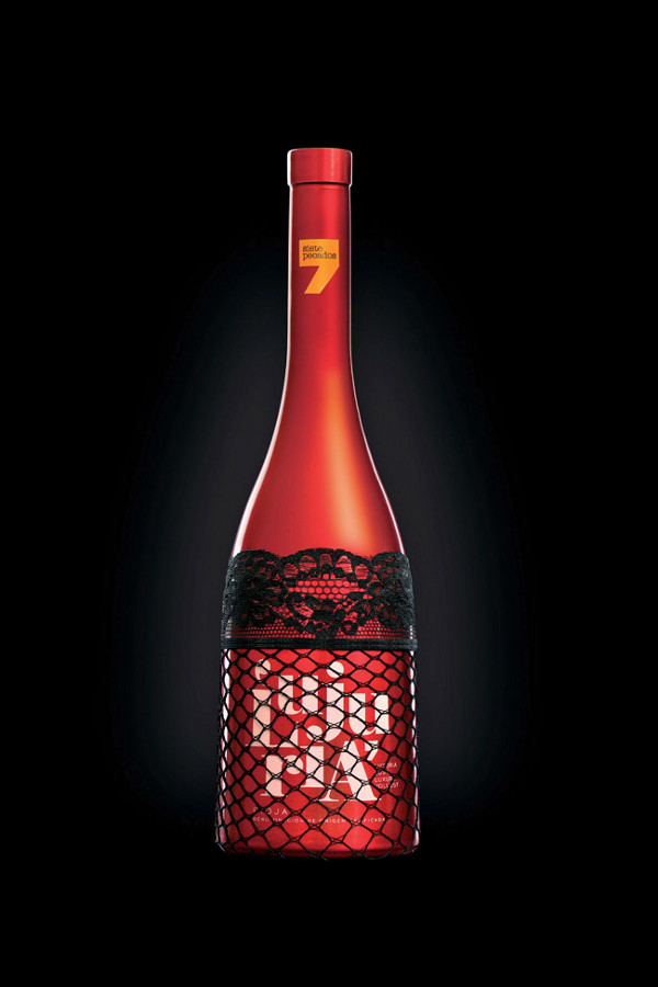 lust bottle design, seven deadly sins