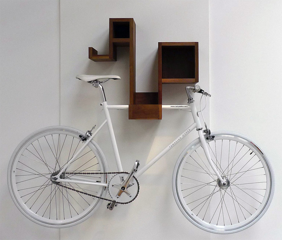 Pedal Pod - indoor bike rack