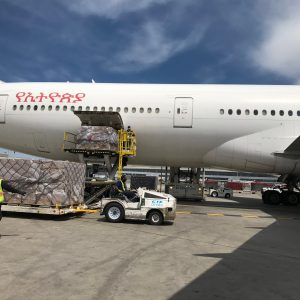 Synergie Canada INC moves a cargo consisting of masks from Guangzhou, China, to Montreal, Canada