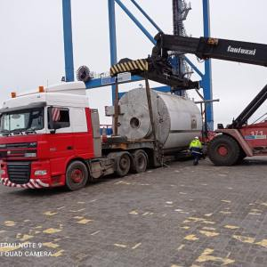 Alphatrans Ltd moves an OOG shipment consisting of spray dryer