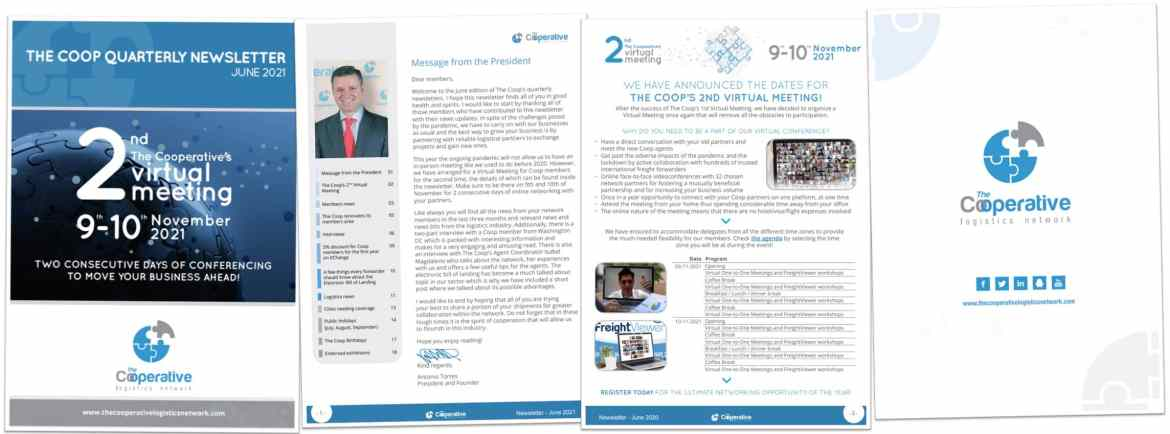 The Coop's newsletter for freight forwarders