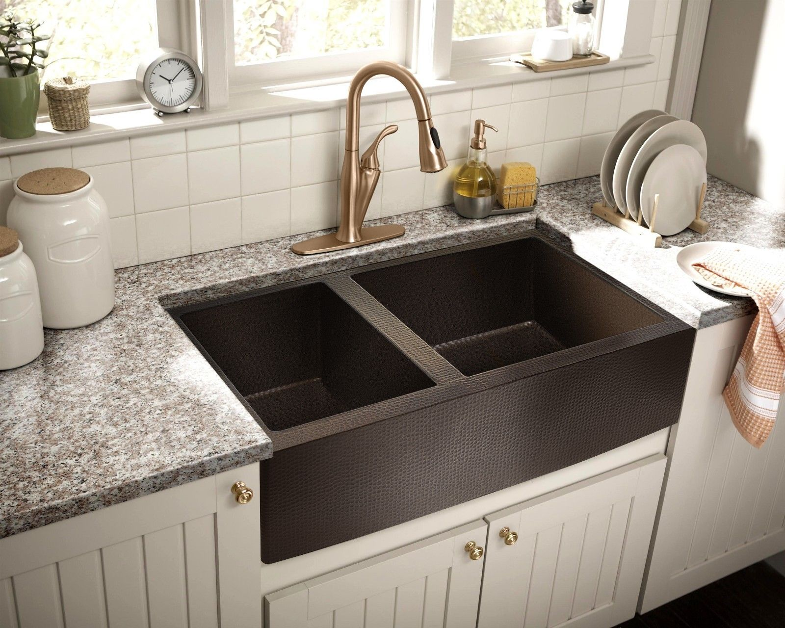 Hammered Copper Apron Farmhouse Kitchen Sink 33 X22 60 40 No Custom Duties 813584013676 Ebay