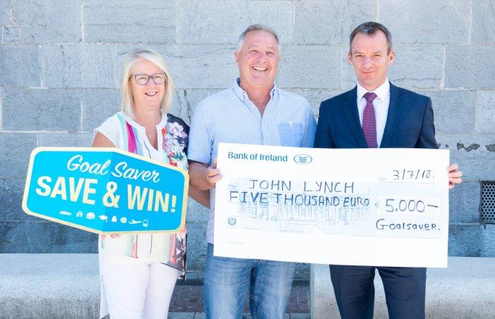 EAST CORK: Midleton resident John Lynch wins €5,000 in Bank of Ireland GoalSaver competition