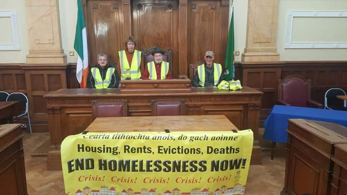 CORK: City Hall Council Chamber Occupied in housing protest