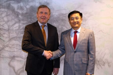 Cork based Agriculture Minister thanks Chinese Ambassador to Ireland